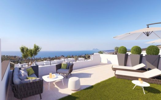 ARFA1261-1 - Penthouses for sale with sea view near Manilva