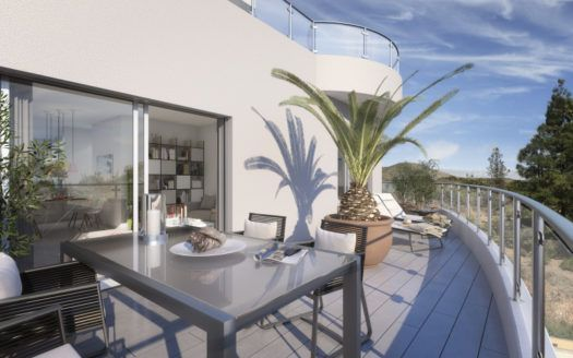 ARFA1266-1 - Modern projected apartments and penthouses with sea views in Mijas Costa