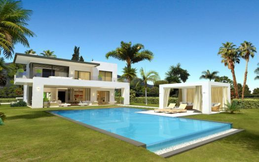 ARFV1844 - Modern villas in best location with sea views for sale in Marbella Golden Mile