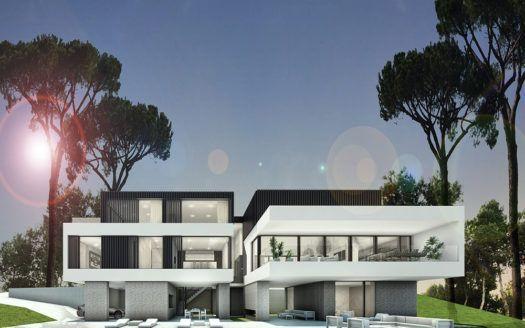 ARFV1615 - Modern new villas for sale with sea views in La Mairena in Marbella