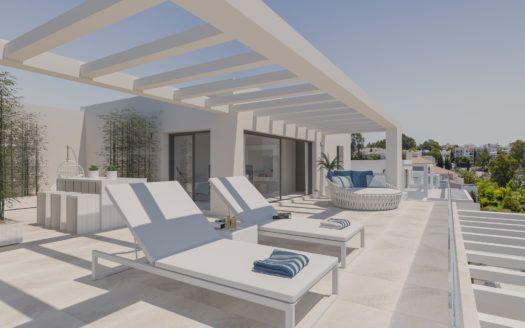 ARFA1201 - Modern apartments and penthouses for sale near El Paraiso in Estepona