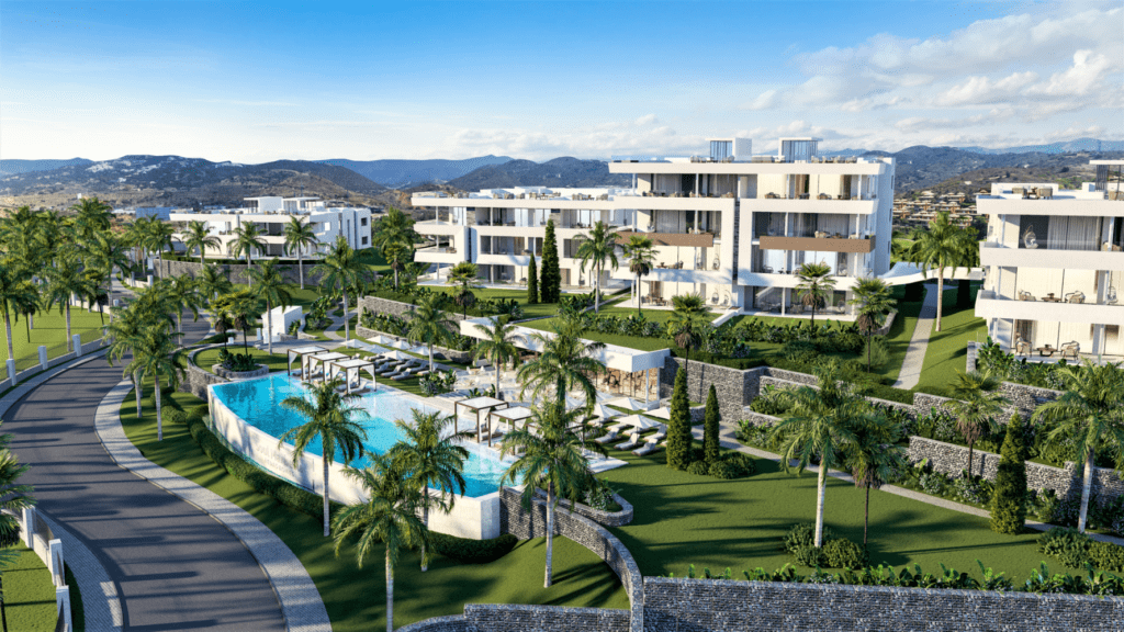 ARFA1359 - Luxury new building project for apartments and penthouses with partly sea view in Santa Clara in Marbella