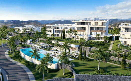 ARFA1359 - Luxury new building project for apartments and penthouses with sea view in Santa Clara in Marbella