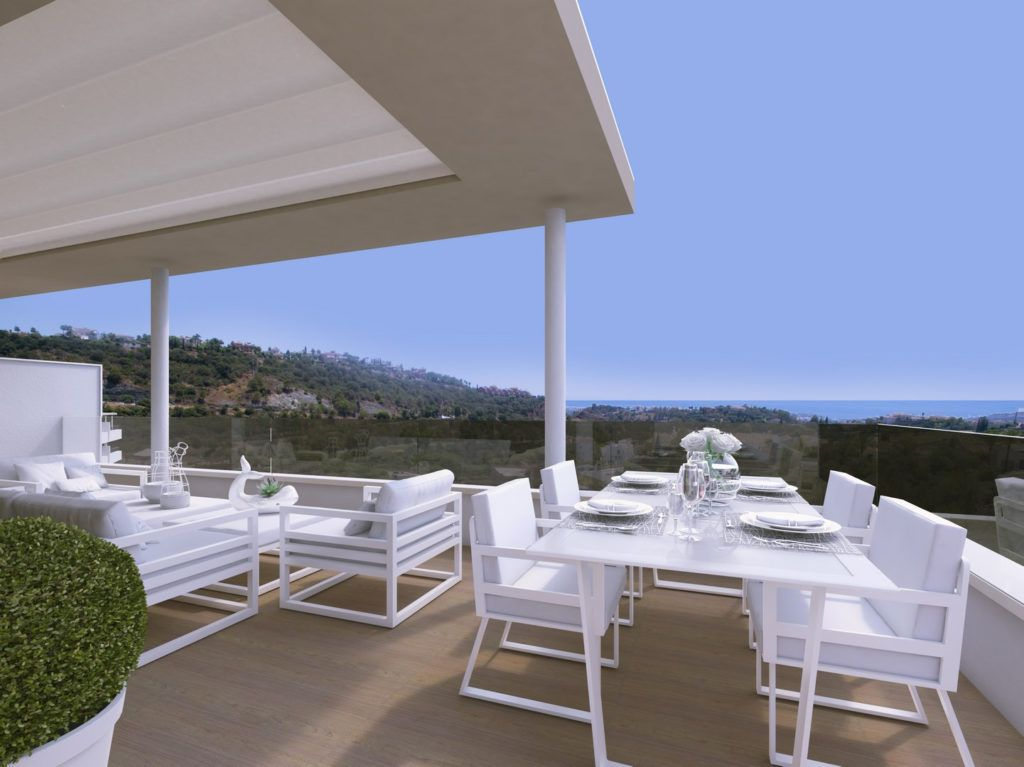 ARFA1137-1 - Penthouses for sale with fantastic sea views in La Reserva de Alcuzcuz in Benahavis