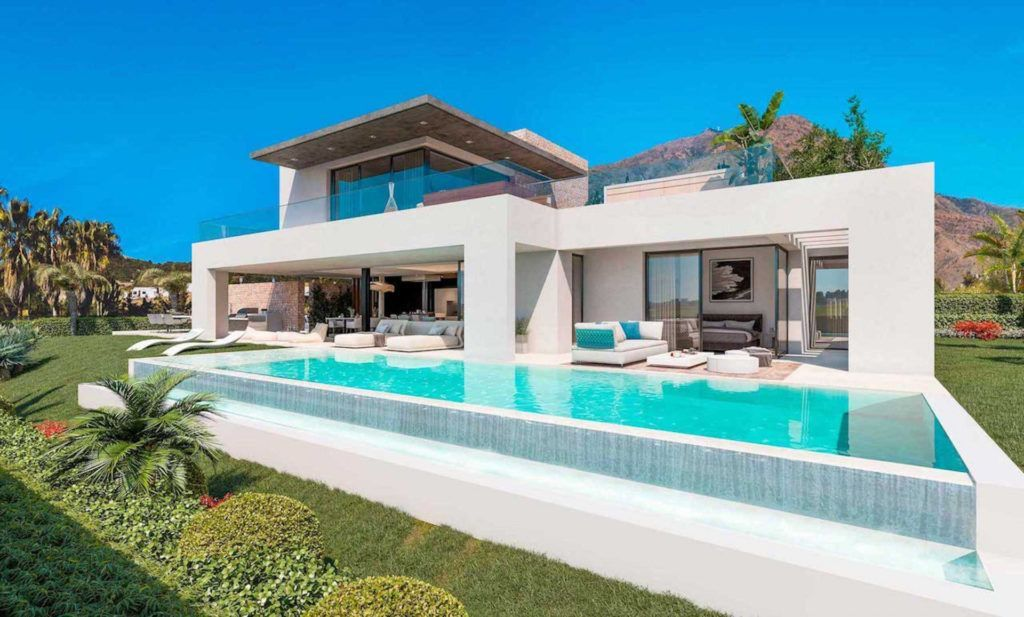 ARFV2097 - 7 modern villas will be built west of Estepona Centre