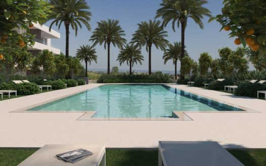 ARFA1227 - 24 modern apartments for sale in Los Arqueros in Benahavis
