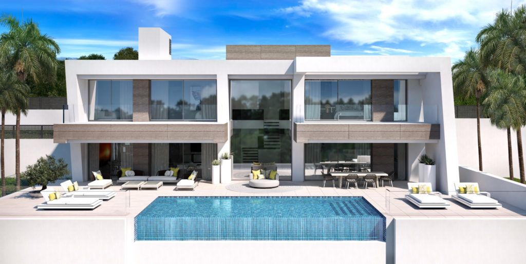 ARFV1967 - Project for 5 modern villas for sale in El Paraiso in Estepona