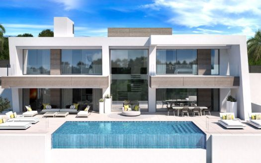 ARFV1967 - Project for 5 modern villas for sale in El Paraiso in Estepona