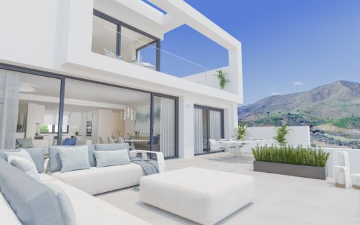 ARFA1243-1 - Project for new apartments and penthouses for sale in la Cala Golf in Mijas