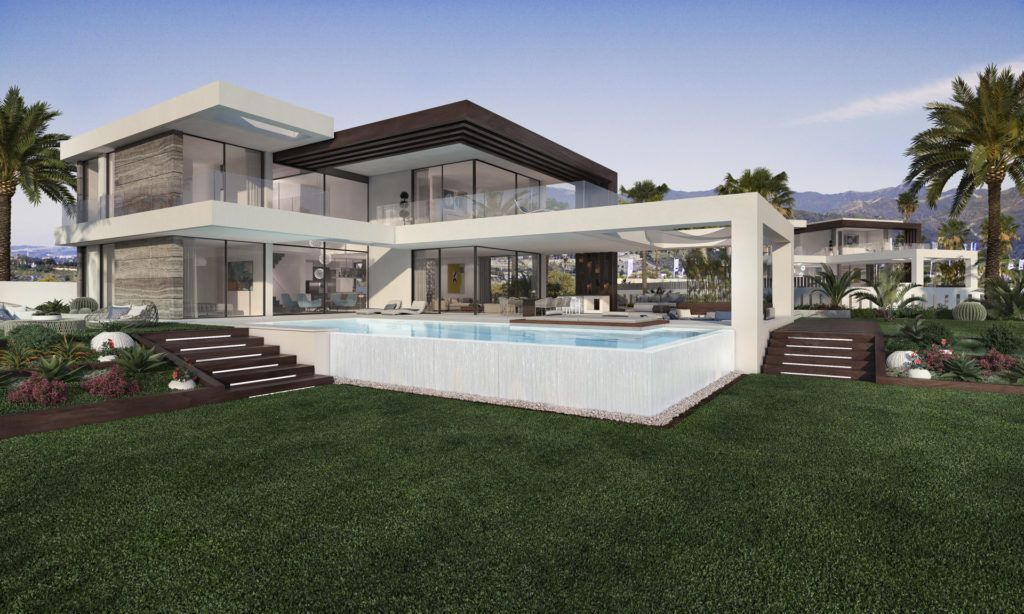 ARFV1978 - Project for 12 new villas for sale in Urb. Cancelada in Estepona with sea view