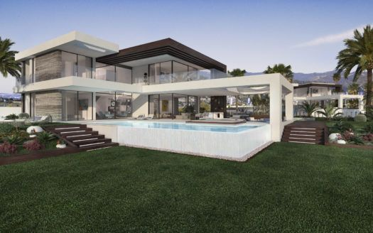 ARFV1978 - 12 new villas for sale in Urb. Cancelada in Estepona with sea view