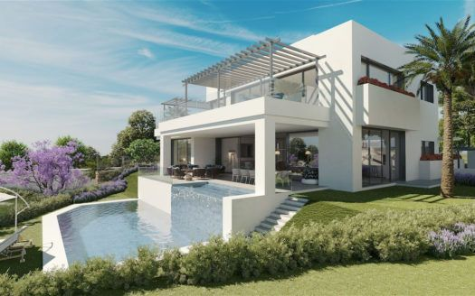 ARFV2113 - New villas in golf location with sea views for sale in Artola in Marbella