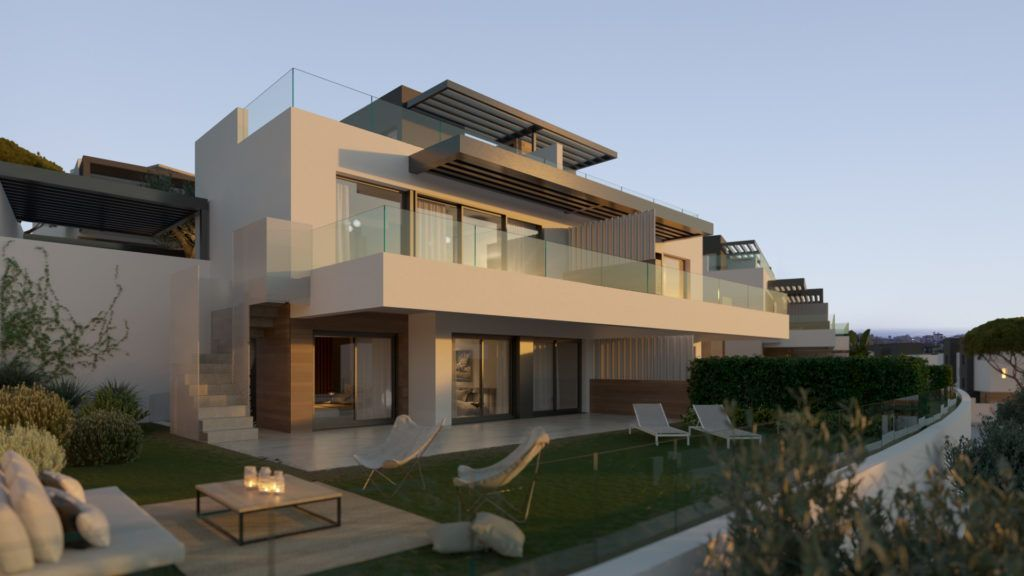 ARFV2121 - 50 semi detached villas and townhouses are being built near the beach and several golf courses at Benahavis