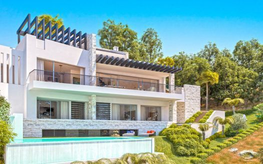 ARFV - 2125 Project for new modern villa with sea views and building licence in Elviria in Marbella
