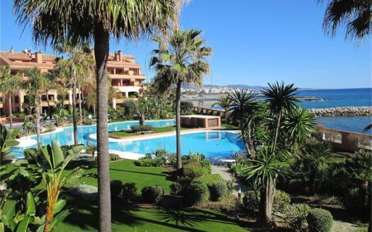 Fully furnished apartment first floor for sale in Puerto Banus  1st line beach
