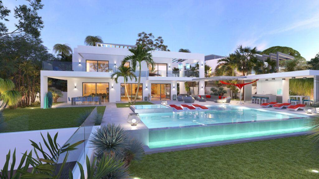 ARFV2174 - Contemporary beachfront villa with panoramic views for sale in Marbesa in Marbella