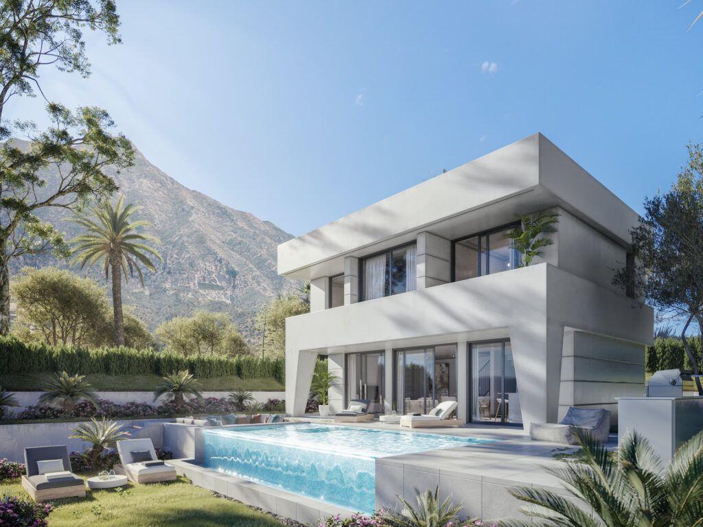 ARFV2178 Project for 14 luxury villas with modern and fresh design in La Duquesa Golf in Manilva