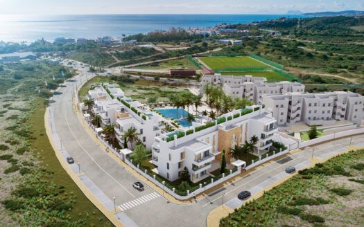 AFRA1455 35 flats and penthouses with private pool near Estepona town