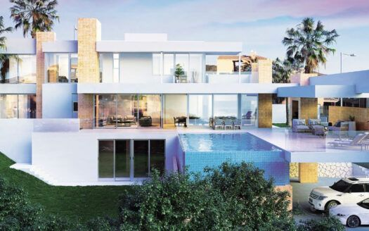 ARFP467 Plot with Project approved for a modern villa in Elviria